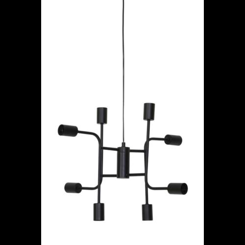 Hanglamp Faryn mat zwart metaal 8L