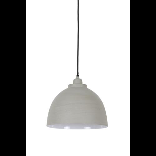 Hanglamp Fable beton en wit in 3 maten
