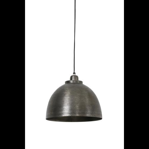 Hanglamp Fable donker ruw nikkel in 3 maten