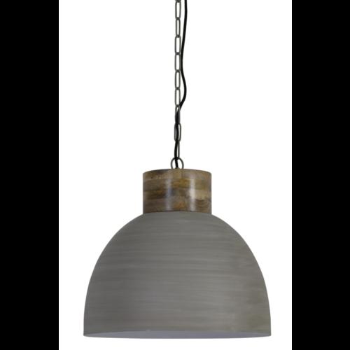 Hanglamp Frieda metaal en hout in 3 kleuren