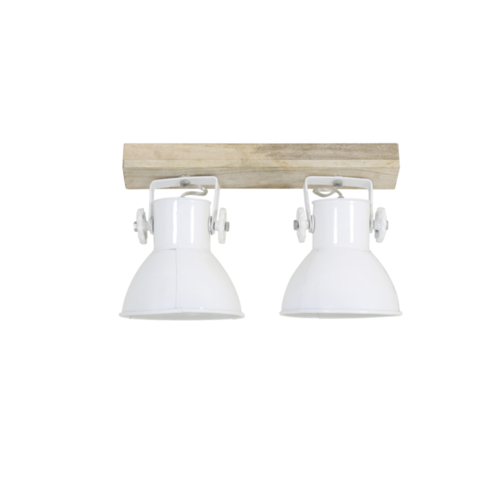 Lamp Fionna naturel hout en wit in 2 maten