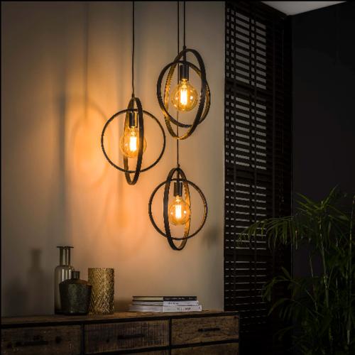 Hanglamp Tina getrapt + 3 led lampen cadeau
