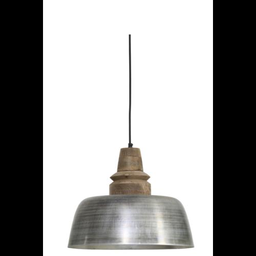 Hanglamp Gia antiek zilver en hout