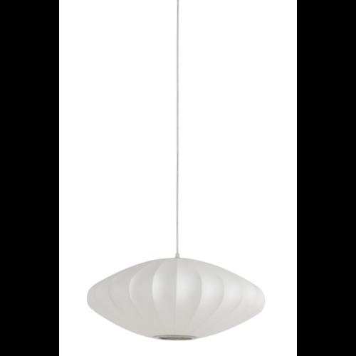 Hanglamp Gretchen wit metaal in 2 maten
