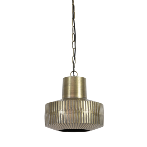 Hanglamp Gladys antiek brons in 2 maten