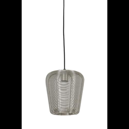 Hanglamp Opal nikkel in 3 maten