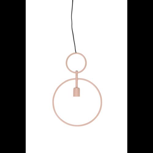 Hanglamp Gionna oud roze metaal in 3 maten