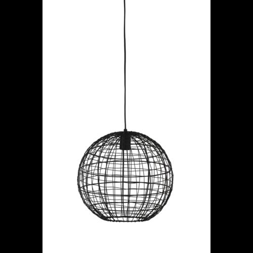 Hanglamp Genesis mat zwart metaal in 3 maten