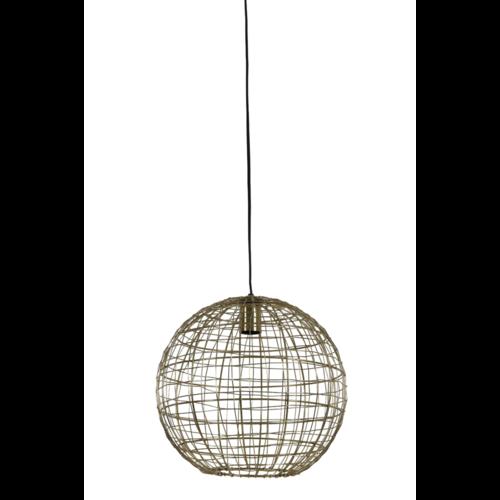 Hanglamp Genesis goudkleurig metaal in 3 maten