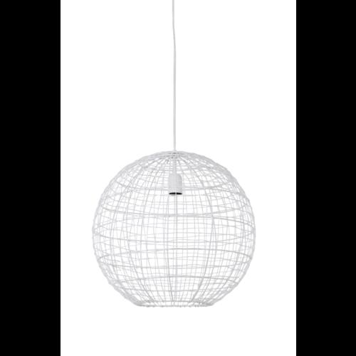 Hanglamp Genesis mat wit metaal in 2 maten