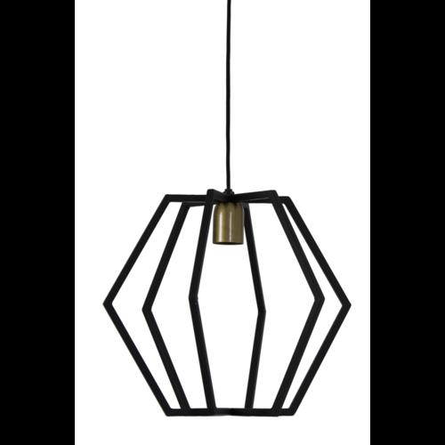 Hanglamp Gwen mat zwart in 2 maten