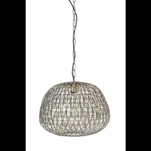 Hanglamp Gisselle antiek brons in 2 maten