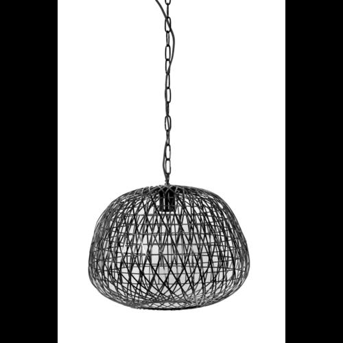 Hanglamp Gisselle mat zwart in 2 maten
