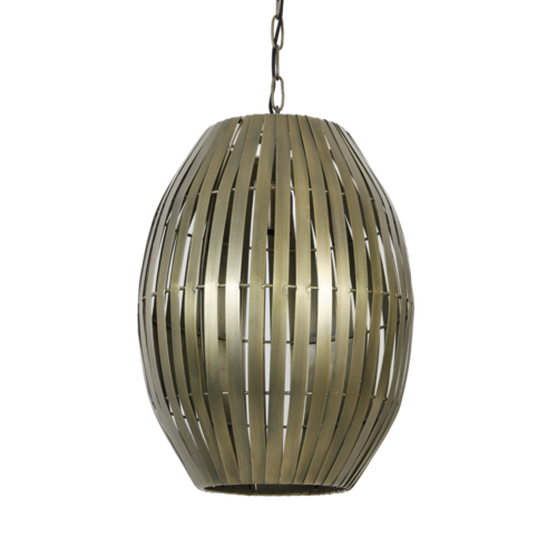 Hanglamp Omari antiek brons in 2 maten