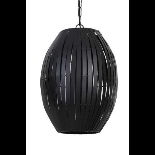 Hanglamp Omari mat zwart in 2 maten