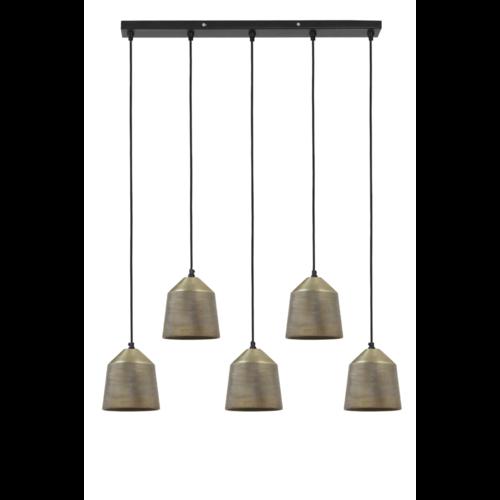 Hanglamp Gianni antiek brons 5L