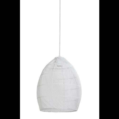 Hanglamp Olivette wit metaal in 2 maten