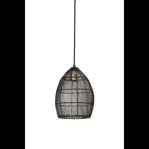 Hanglamp Olivette zwart en goud metaal in 4 maten