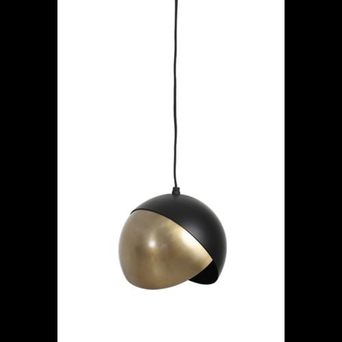 Hanglamp Gillian mat zwart en brons in 3 maten