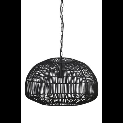Hanglamp Gwenny mat zwart metaal Groot