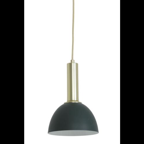 Hanglamp Georgy groen en goud in 2 maten