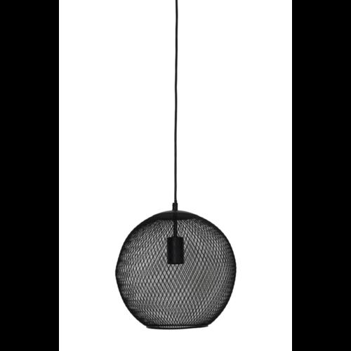 Hanglamp Geneva mat zwart metaal in 3 maten