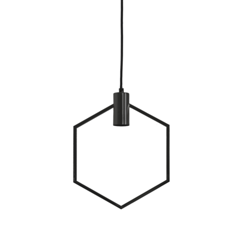 Hanglamp Graysen mat zwart in 2 maten