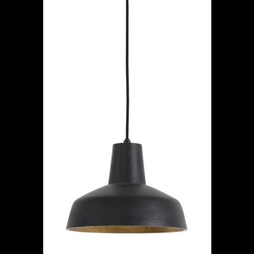 Hanglamp Hayley mat zwart en goud