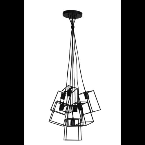 Hanglamp Hailee mat zwart 7L