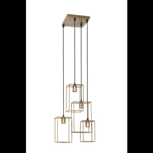 Hanglamp Edna antiek goud 4L