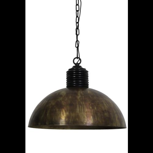 Hanglamp Haddie gebrand antiek brons