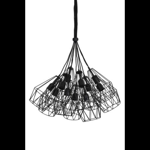 Hanglamp Hartley mat zwart 11L