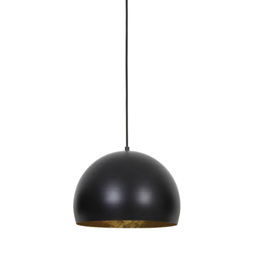 Hanglamp Hollis mat zwart-goud in 3 maten