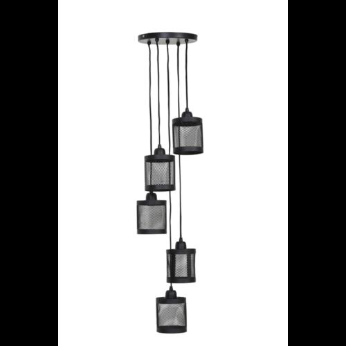Hanglamp Haylie mat zwart 5L
