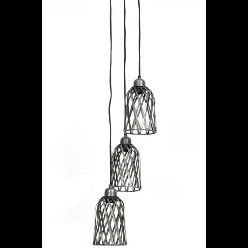 Hanglamp Harlem antiek zink 3L