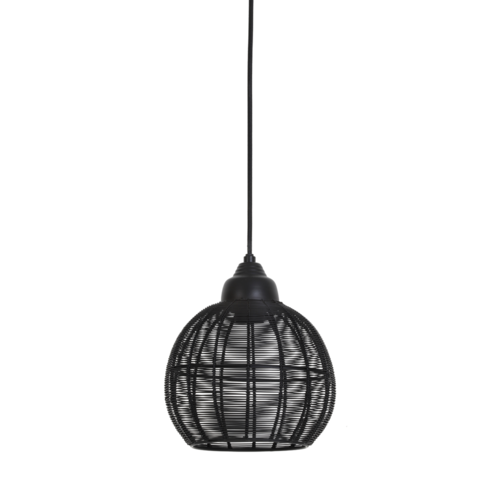 Hanglamp Huda mat zwart in 2 maten