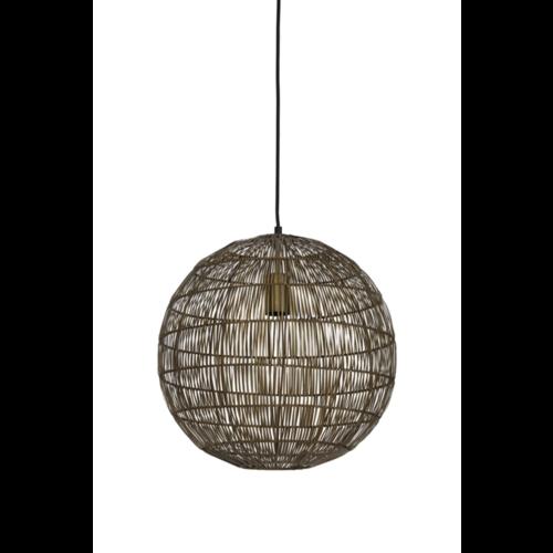 Hanglamp Halley brons in 2 maten
