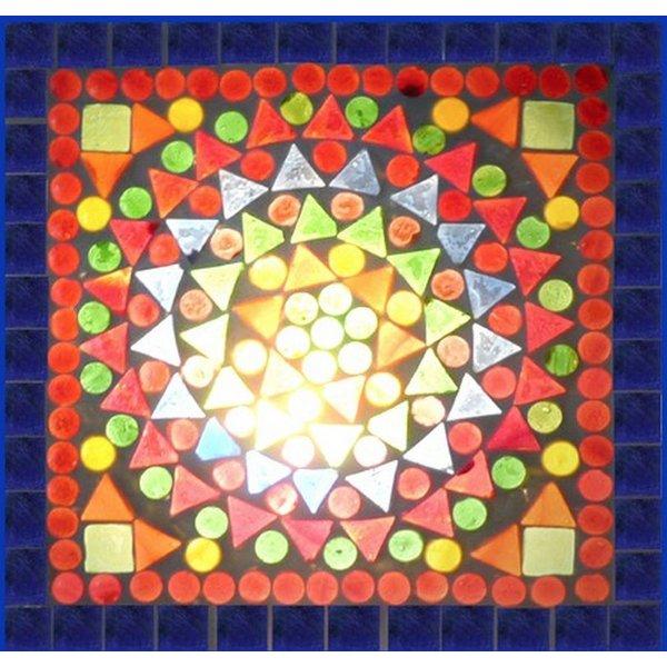 Dressoir 4 deurs gekleurd mozaiek