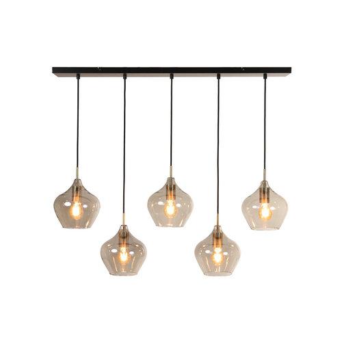 Hanglamp Chandler smoke glas in 2 maten NU inclusief ledlampen