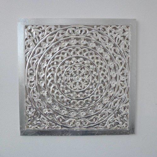 Wandpaneel Zilver 80x80cm zonder verlichting