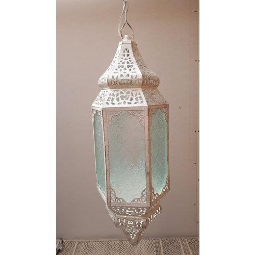 Marokkaanse hanglamp Ania  wit/zilver/goud
