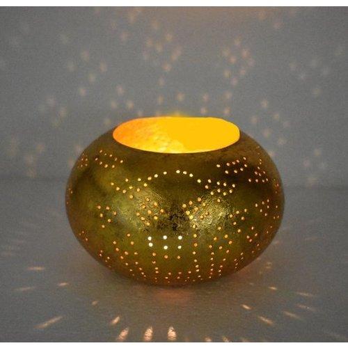 oosterse waxinehouder filigrain - ufo goud