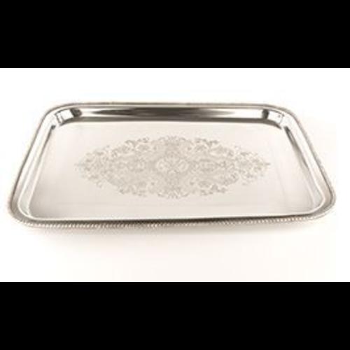 Orientaalse tray rechthoekig nikkel