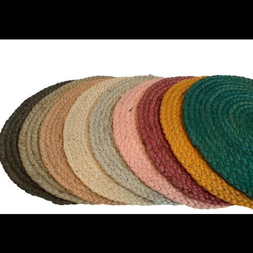 Placemat jute ø 38 cm in diverse kleuren