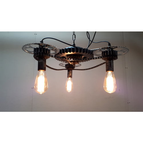 Industriele hanglamp Gearhead - showroommodel SALE