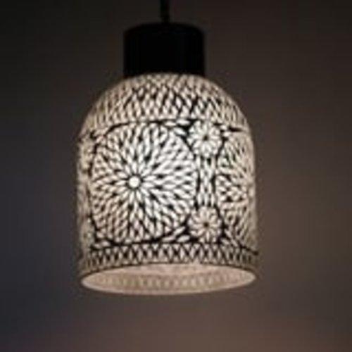 Hanglamp Roya fles open wit