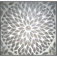 Tafellamp bol klein transparant mozaiek