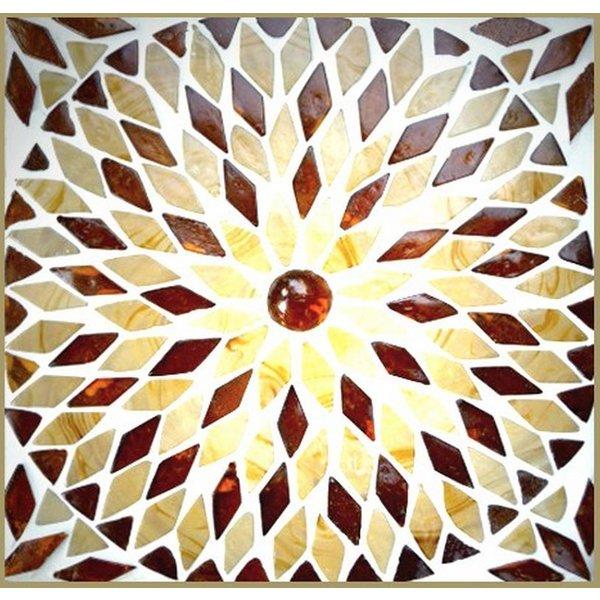 Tafellamp bol klein bruin/beige mozaiek
