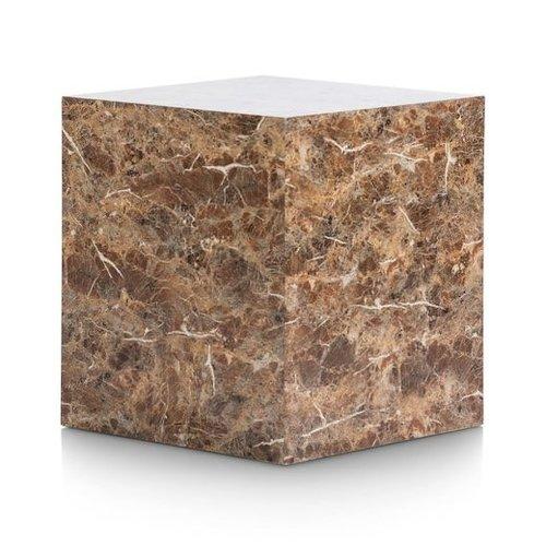 Bijzettafel Marble Look - bruin