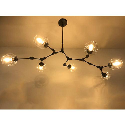 Hanglamp Graham 7L Zwart Frame - 3 glas keuzes